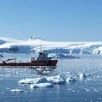 Antarctic research ship